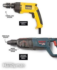 What is a Hammer Drill vs. Rotary Hammers 55f26798553e