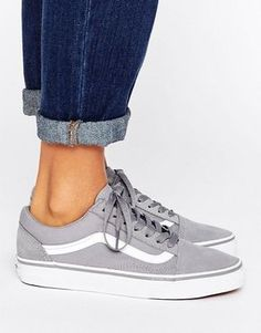 4e1bce1f24 Vans Classic Old Skool Trainers In Grey