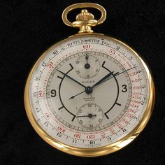 Vintage Rolex Chronograph 18 Kt Gold Cal. Geneva 17 Pocket Watch  Click to find out more -  http://menswomenswatches.com/vintage-rolex-chronograph-18-kt-gold-cal-geneva-17-pocket-watch/