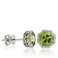Love! Peridot Earrings 14K White Gold. I would never want anyone to spend that much on earrings for me though