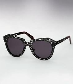 Karen Walker Number One Critter Sunglasses - Black