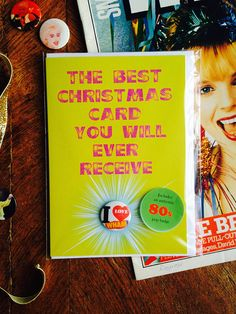 I Love Wham Christmas Card and Badge Fantastic 80s Pop