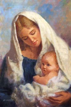 Madonna and Child by jewel Religious Pictures, Religious Icons, Religious Art, Blessed Mother Mary, Blessed Virgin Mary, Images Of Mary, Bing Images, Mama Mary, Mary And Jesus