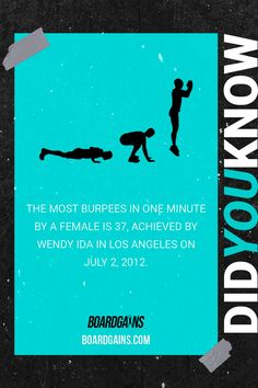 Did you know? Fun fitness fact of the day. Fit Board Workouts, Fun Workouts, At Home Workouts, Fitness Workouts, Workout Memes, Workout Guide, Workout Challenge, Fitness Games For Kids, Exercise For Kids