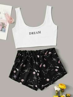 Girls Fashion Clothes, Teen Fashion Outfits, Outfits For Teens, Cute Lazy Outfits, Stylish Outfits, Cool Outfits, Cute Pajama Sets, Cute Sleepwear, Pajama Outfits
