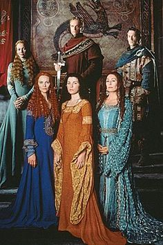 Mists of Avalon - Morgause, Morgaine and Viviane in the foreground - (I've never seen, or heard of, this movie, but I'm pinning it because—having read the book— I'd like to find it somewhere so I can.
