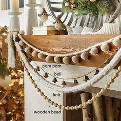 Christmas Mantels, Noel Christmas, Winter Christmas, Christmas Crafts, Christmas Fireplace Decorations, Diy Christmas Garland, Fall Crafts, Diy Christmas Home Decor, Decorating For Christmas