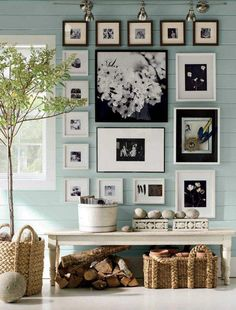 Wall decor from Pottery Barn, love this idea for the hallway