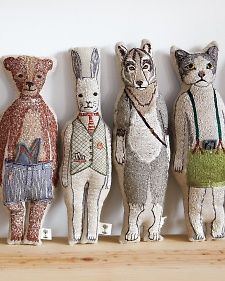 I'm so inspired by these beautiful stitched friends. Keep Them in Stitches - Martha Stewart Crafts