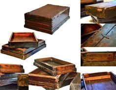 $39.50 {FOUND: One Day Only} Old Wooden Money Box/Tray, 1 Side ~Enjoy one decor deal a day from WUSLU ~www.wuslu.com