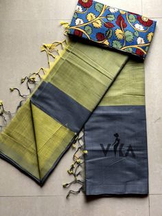 Mangalgiri handloom soft cotton saree comes with running blouse as well extra blouse as shown in the pic Khadi Saree, Stylish Sarees, Saree Dress, Saree Collection, Cotton Saree, Designer Wear, Indian Fashion, Cross Stitch, Blouses