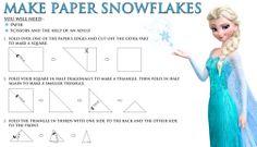 Photo of Frozen make paper snowflakes for fans of Elsa and Anna. Disney Frozen Party, Frozen Birthday Party, Girl Birthday, Birthday Ideas, Birthday Activities, Frozen Movie, Fourth Birthday, Frozen Free, Frozen 2013