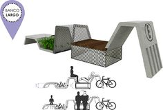 Street landscape design behance 39 ideas for 2019 City Furniture, Urban Furniture, Street Furniture, Furniture Sale, Unique Furniture, Cheap Furniture, Online Furniture, Furniture Plans, Furniture Design
