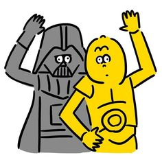 Darth Vader & C-3PO #darthvader #c3po #starwars #hellow #theforceawakens #character #movie #seijimatsumoto #松本誠次 #art #artwork #drawing #drawing #helmet #illustration #illust #illustrator #design #graphic #イラスト #スターウォーズ #映画 #絵 #ダースベイダー