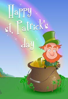 free printable leprechaun wishing st patricks day greeting card stpatrick printable greetingcards st