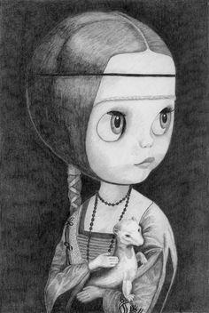 Blythe with an Ermine - by Thomas DePorter (Friend2Blythe)