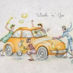 Cards » Wash 'n' Go » Wash 'n' Go - Berni Parker Designs