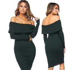 New arrivals just released  shop the Charlotte off the shoulder flap long sleeve knitted dress. #ootd #holidaycollection #newarrivals #ootn