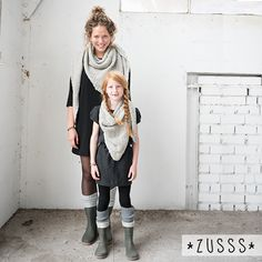 gorgeous shawl for mother and daughter by dutch brand Zusss