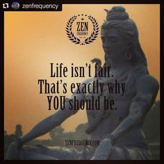 Life isn't fair. That's exactly why YOU should be.  #zen #meditation #enlightenment #success #quotes #quoteoftheday #beautiful #fashion #like4like #smile #instamood #amazing #style #instacool #instaphoto #instafollow #fitness #goodtimes #yogapose #yogafit #yogalifestyle #instayoga #yogaplay #yogapractice #yogalove #yogalife #zenfrequency