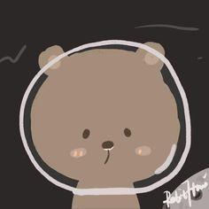 Cute Animal Drawings Kawaii, Cute Little Drawings, Cute Drawings, Soft Wallpaper, Kawaii Wallpaper, Couple Wallpaper, Avatar Cartoon, Cute App, Art Painting Gallery
