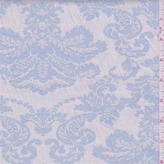 Ivory/Blue Jacquard Suiting - 29499 - Fabric By The Yard At Discount Prices
