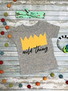 Wild Thing Jersey Shirt  6 month  Infant Shirt  Birthday
