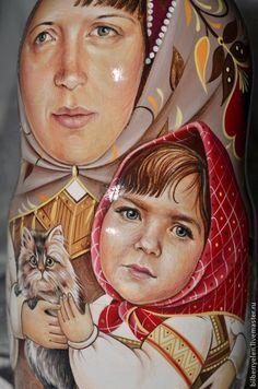 """Купить Портретная матрешка """"Наташенька"""" - кукла ручной работы, портретная кукла, Роспись по дереву"""