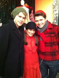 Chord Overstreet, Lea Michele & Damian McGinty from Glee