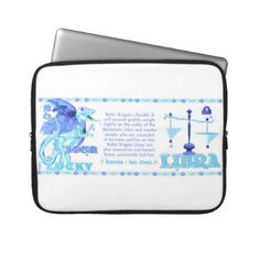 Valxart 2012 2072 1952 WaterDragon zodiac Libra Laptop Computer Sleeves