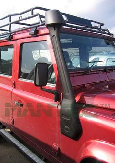 Land Rover Mantec snorkel kit made from matt black Flexi Lite. - Land Rover Parts Range Rover Parts, New Year Deals, Snorkeling, Kit, Black, Diving, Black People, Scuba Diving