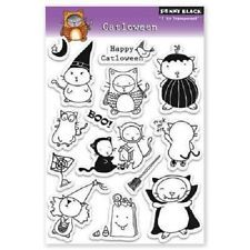 PENNY BLACK RUBBER STAMPS CLEAR CATLOWEEN HALLOWEEN CAT STAMP SET