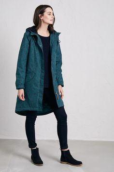 d54c69fcc4bb The Plant Hunter Coat is a relaxed fit, parka-style women's raincoat made  from