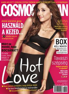 """The magazine """"Ariana Grande - Cosmopolitan Magazine Cover [Hungary] (April has been viewed 74 times. Ariana Grande 2016, Ariana Grande Photoshoot, Ariana Grande Fans, V Magazine, Fashion Magazine Cover, Magazine Covers, Vanity Fair, Marie Claire, Celebrity Magazines"""