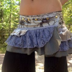 Touch of Grey Mini Ruffle Adjustable Bustle skirt Ready to Ship by FamilyofLightDesigns on Etsy