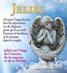 On prie l'ange gardien Jeliel pour lui demander son aide pour retrouver l'amour dans le couple lorsque celui-ci traverse des difficultés