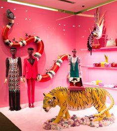 Gucci Gardens Sydney Westfield, retail display, fashion retail, visual merchandising, marketing, design, display and installation.