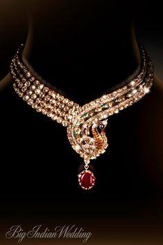 Preeti Jain peacock-motif jewellery