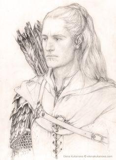 "markedasinfernal: ""The Children of Húrin Illustrations: Melian, Morwen, Húrin, Elu Thingol, Beleg, Túrin by ekukanova """