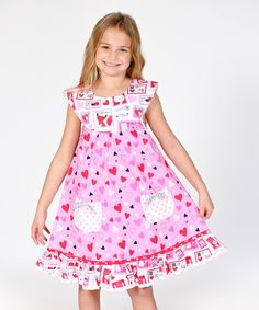 Look at this Pink Love Letter Sailor Dress - Infant, Toddler & Girls on #zulily today!
