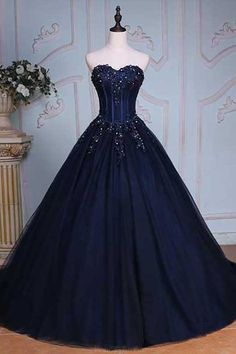 Prom Dresses Ball Gown #PromDressesBallGown, Navy Prom Dresses #NavyPromDresses, Custom Made Prom Dresses #CustomMadePromDresses, Prom Dresses Blue #PromDressesBlue, Long Prom Dresses #LongPromDresses