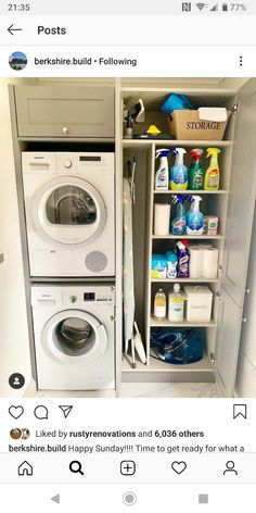 120 brilliant laundry room ideas for small spaces – practical & efficient -pag. 120 brilliant laundry room ideas for small spaces – practical & efficient -pag… Room Remodeling, Boot Room, Laundry Room Remodel, Laundry Design, Room Layout, Utility Rooms, Room Design