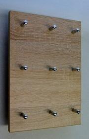 Věšák na klíče na výšku pro 9 svazků klíčů Dub bardolíno