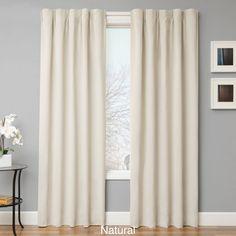 Softline Simple Drape Blackout Curtain Panel Pair