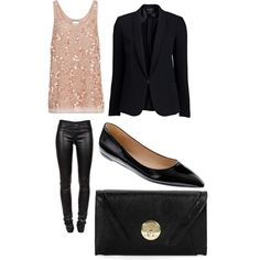 I need these black leather pants ( I could lose the jacket), so my style <3