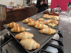 Making croissants at a cooking class in Paris