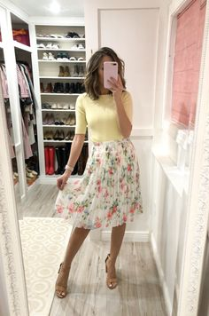 A few try-on pieces and amazing sale alert ~ Lilly Style Spring Florals Hip Hop Outfits, Girly Outfits, Skirt Outfits, Floral Outfits, Cute Modest Outfits, Trendy Outfits, Cute Spring Outfits, Summer Work Outfits, Modest Church Outfits