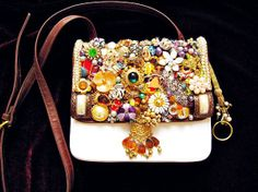 Vintage Jewelry Mosaic Embellished Ladies Purse