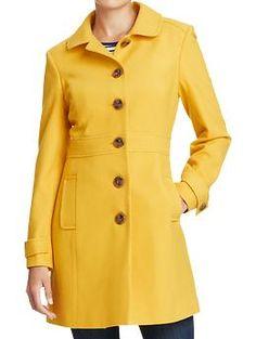 Women's Peter-Pan Collar Wool-Blend Coats | Old Navy