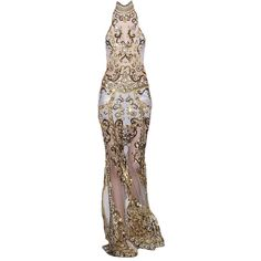 Zuhair Murad Spring 2013~ edited by snugget9530 ❤ liked on Polyvore featuring dresses, gowns e long dresses